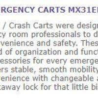 crash carts specs