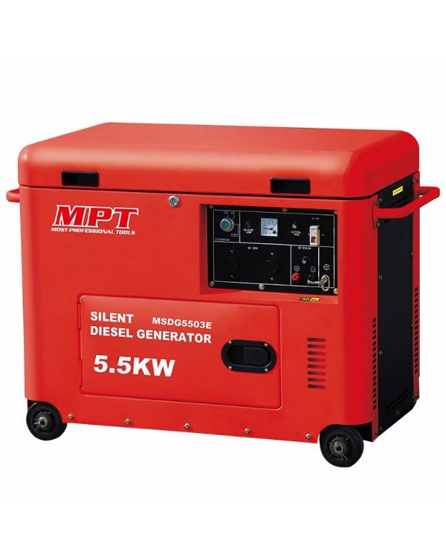 Diesel Generator For Sale >> Silent Diesel Generator 6 Kva 16 Liters Mpt